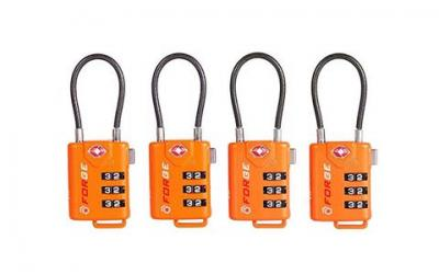 TSA Approved Cable Luggage Locks, Re-settable Combination