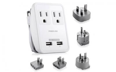 Poweradd 2-Outlet International Travel Charger Power AC Adapter