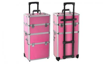 Radical Deal 2-wheel 3-in-1 Professional Multifunction Artist Rolling Trolley Makeup Beauty Train Case