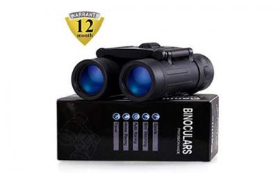 Binoculars with 10x25 Portable High Definition and Blue Film Daily Waterproof
