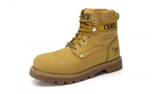 Camel Men's Leather Insulated Work Boots Water Resistant
