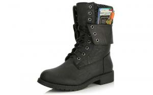 DailyShoes Women's Military Combat Lace
