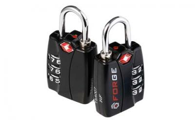 Forge TSA Locks 2 Pack - Open Alert Indicator, Alloy Body with Lifetime Warranty