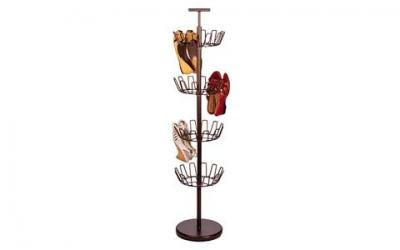 Honey-Can-Do SHO-02221 Shoe Tree with Spinning Handle