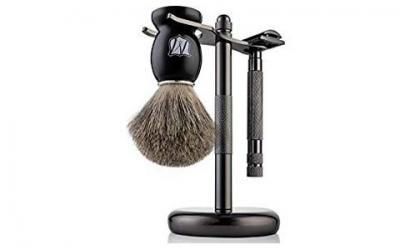 Miusco Men's Shaving Set, Safety Razor, Badger Hair Shaving Brush