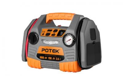 POTEK Car Jump Starter with 150 PSI Tire Inflator/Air compressor,1000 Peak/500 Instant Amps