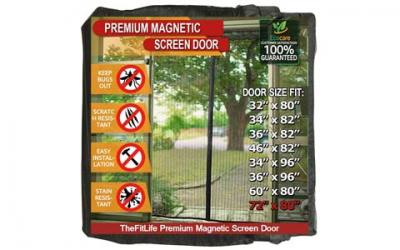 TheFitLife Magnetic Screen Door - Heavy Duty Mesh Curtain