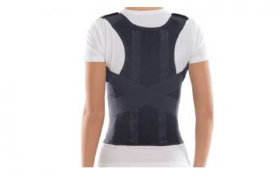 TOROS-GROUP Comfort Posture Corrector Clavicle and Shoulder Support Back Brace, Upper and Lower Back Pain Relief, Fully Adjustable for Men and Women, Thoracic Kyphosis XS /656A-1
