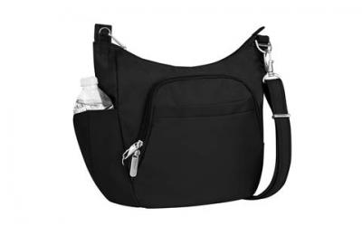 Travelon Anti-Theft Cross-Body Bucket Bag, Black