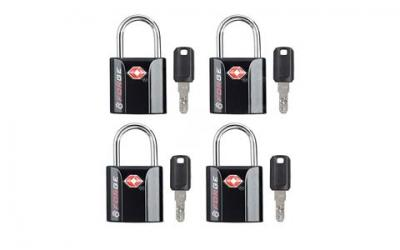 TSA Approved Luggage Locks, Ultra-Secure Dimple Key Travel Locks with Zinc Alloy Body