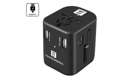 Universal Travel Power Adapter with 4 USB Charging Ports
