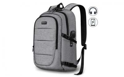 Business Laptop Backpack, Anti Theft Waterproof Travel Backpack with USB Charging Port